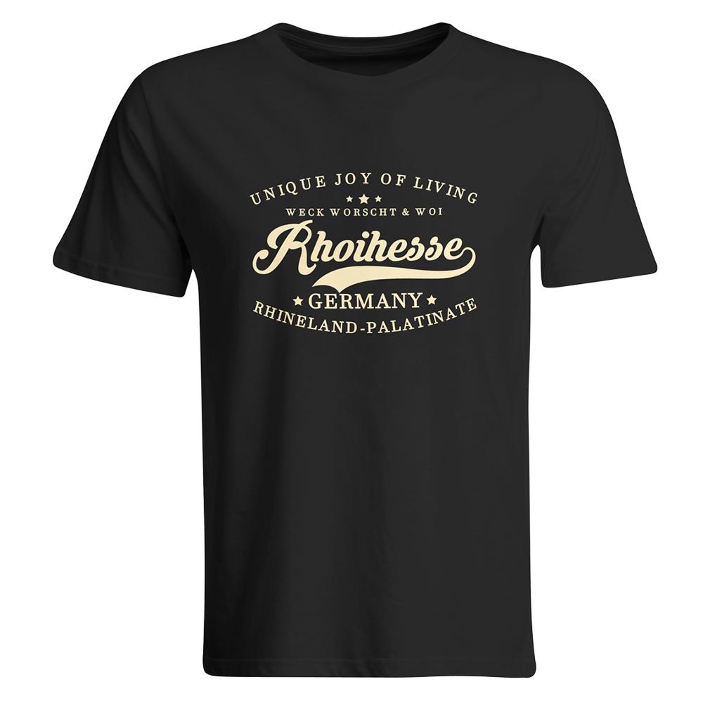 """T-Shirt """"Weck, Worscht & Woi! Rhoihesse"""" (Herren) M1-RHL 14901"""
