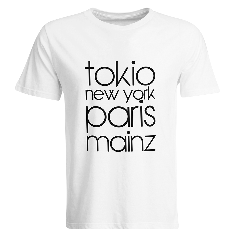 "T-Shirt ""Tokio, New York, Paris, Mainz"" (Herren) 11259"
