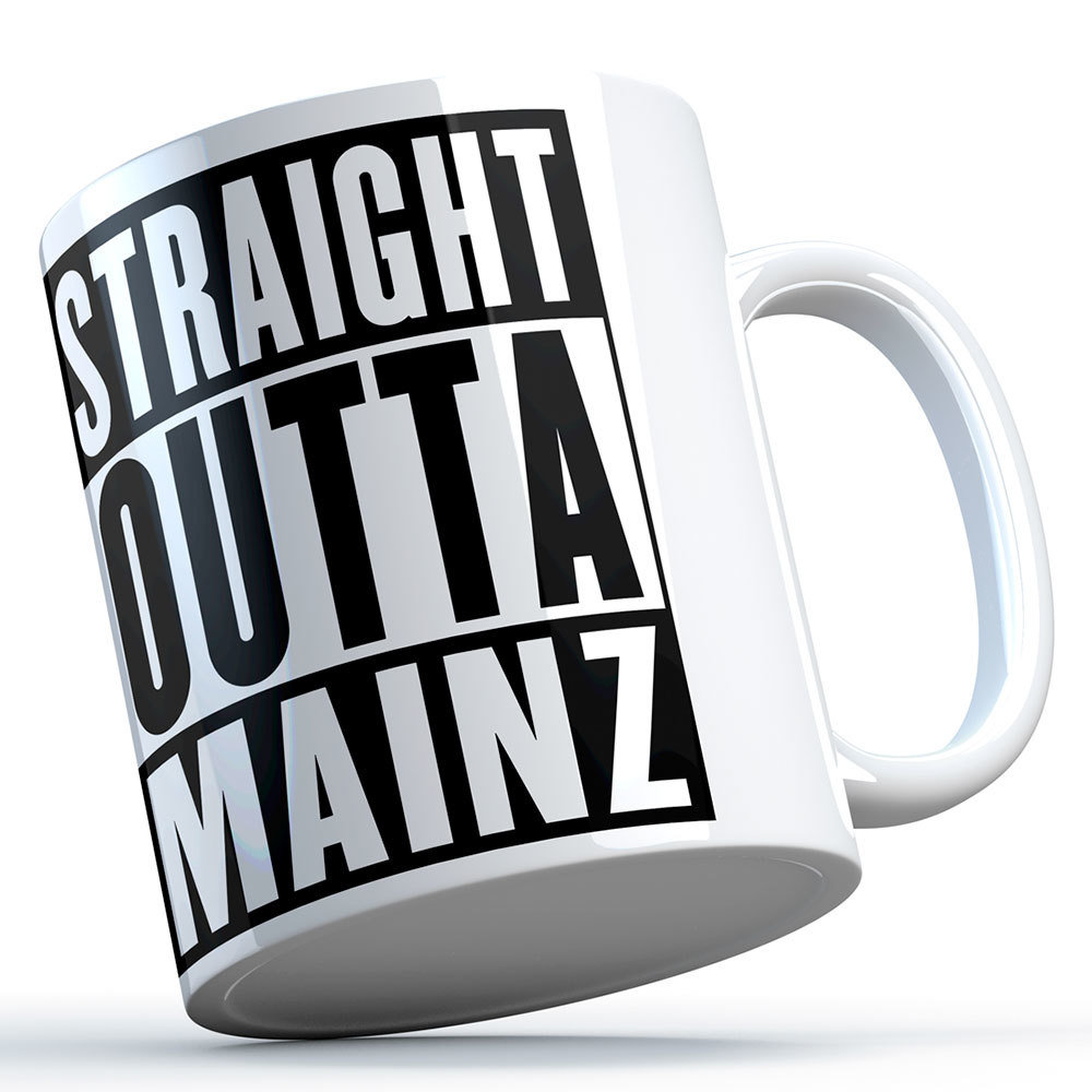 """Straight outta Mainz"" Keramiktasse 11248"