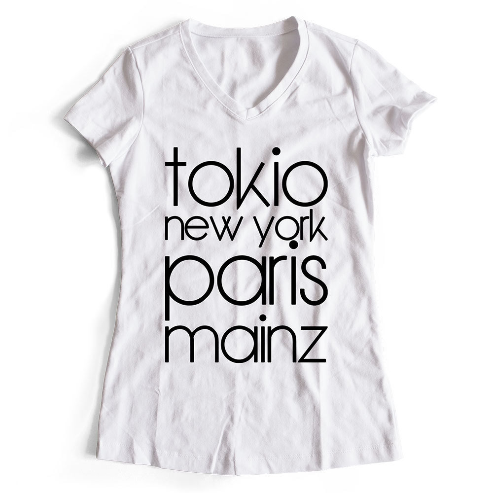 "T-Shirt ""Mainz, Tokio, New York, Paris"" (Damen) 11252"