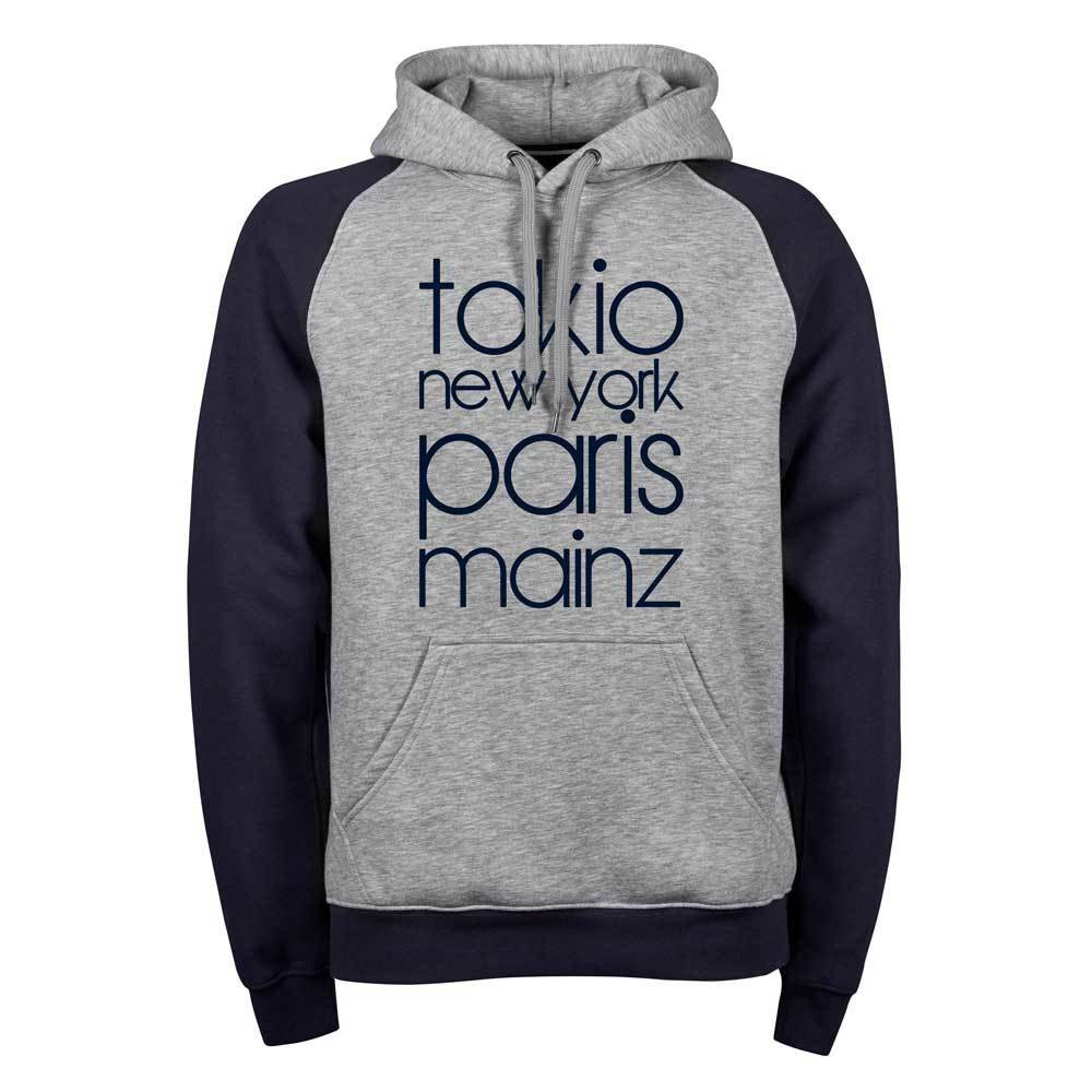 """Tokio, New York, Paris, Mainz"" (Premium Two-Tone Hoody) 11261"