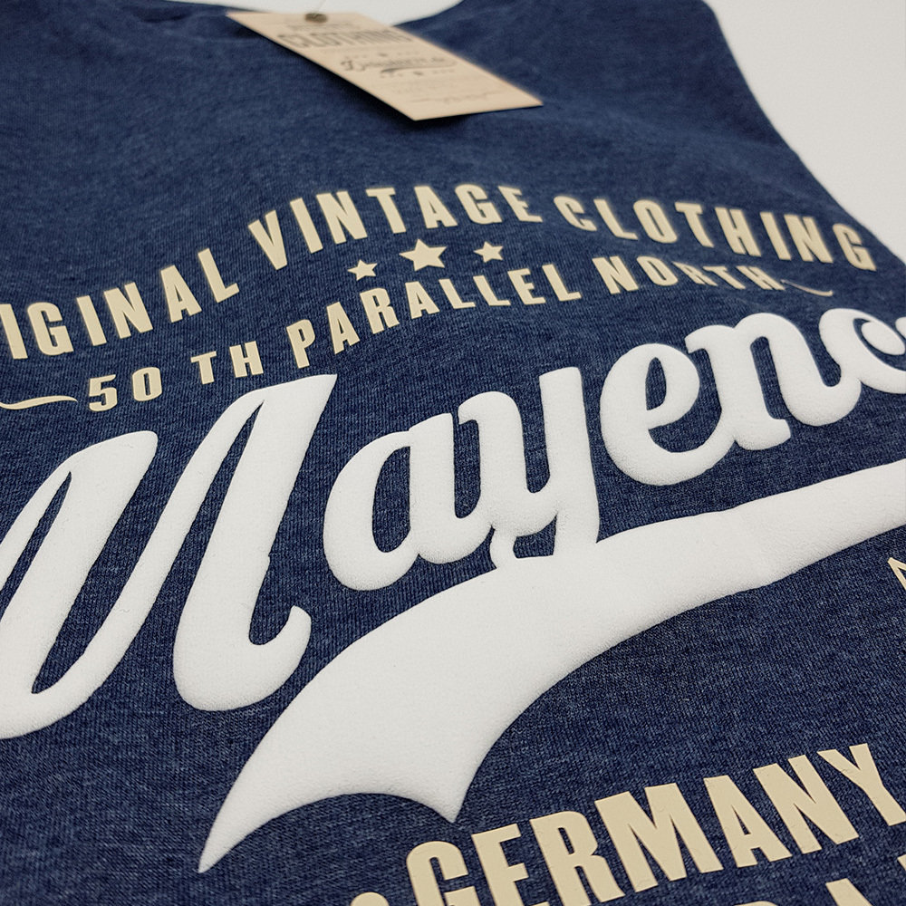 "Mainz T-Shirt ""50 th parallel North - Mayence"" (3D Druck / Herren)"