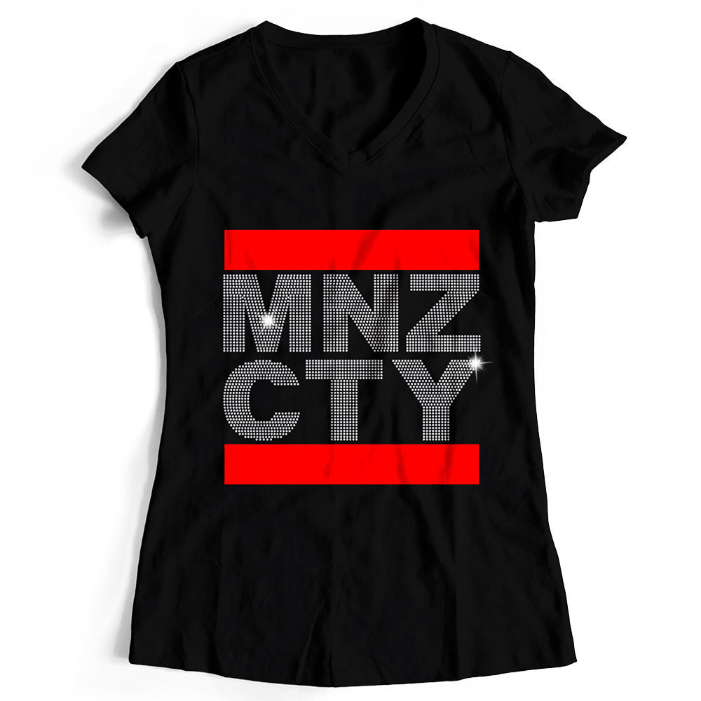 "T-Shirt ""MNZ CTY"" Strass-Edition (Damen) 11280"