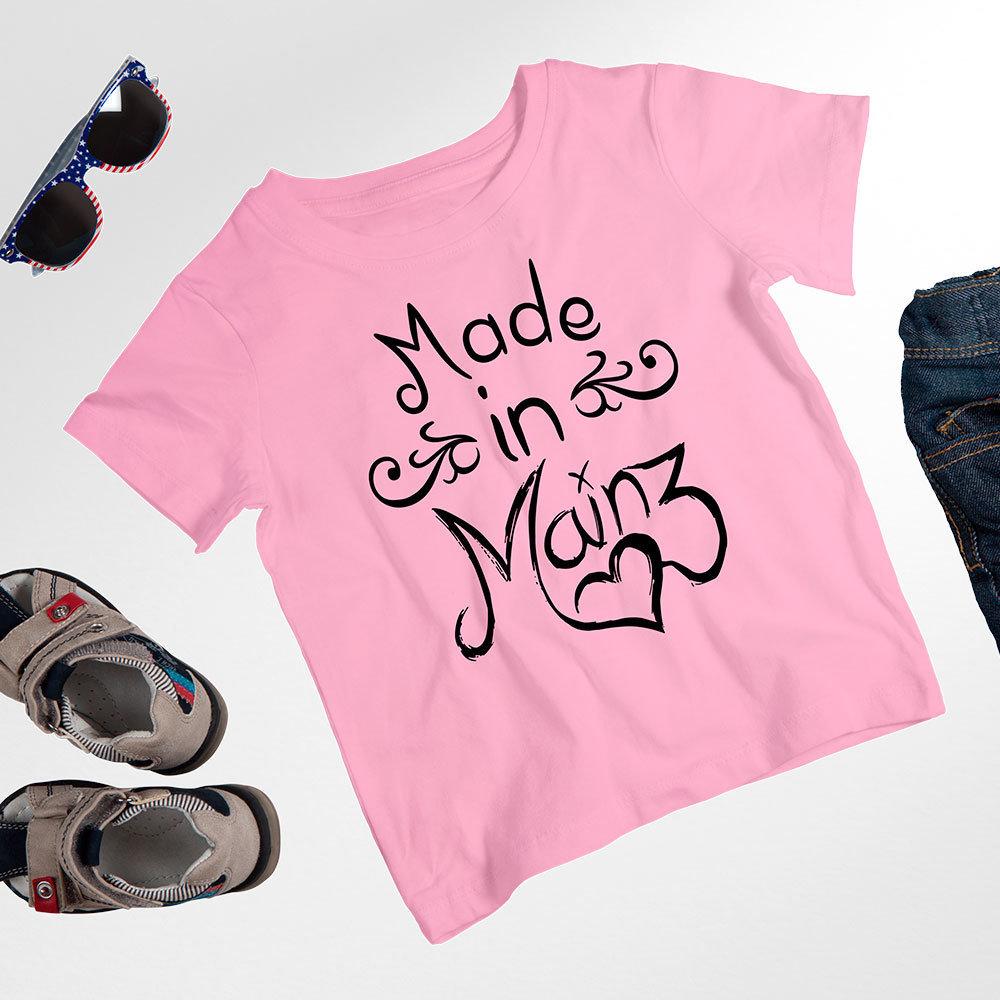 """Kinder-T-Shirt """"Made in Mainz"""" (Mädchen und Jungen) 11279"""