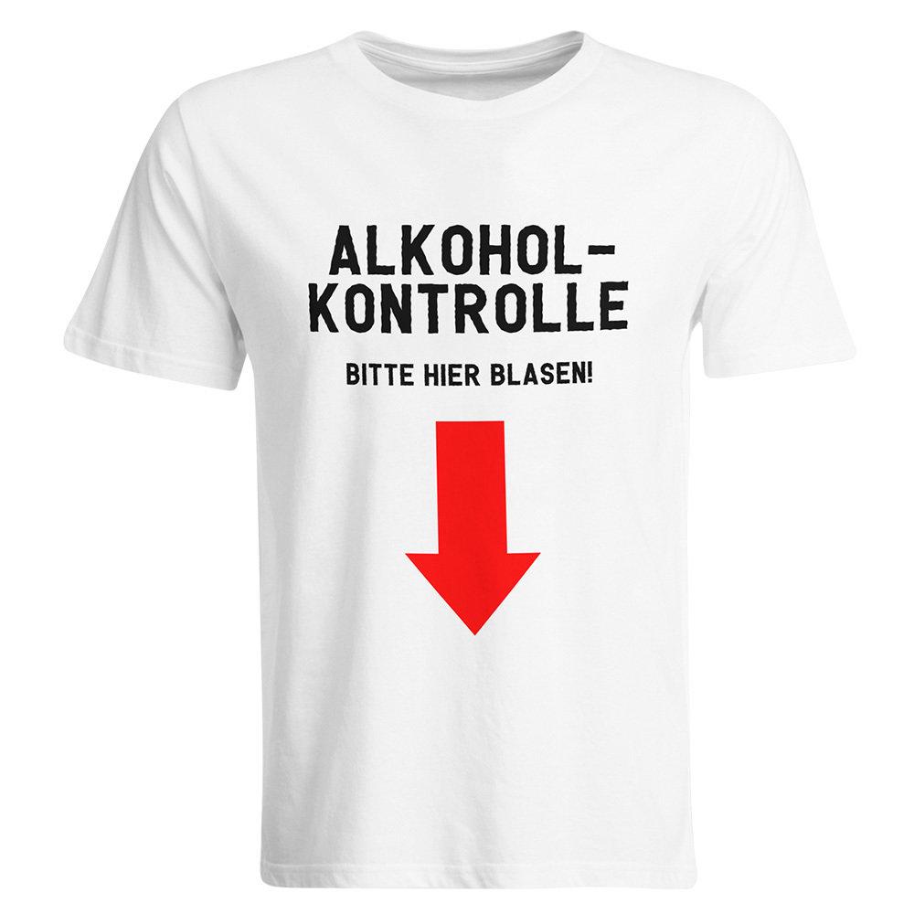 Alkoholkontrolle – Bitte hier blasen Malle T-Shirt 85802