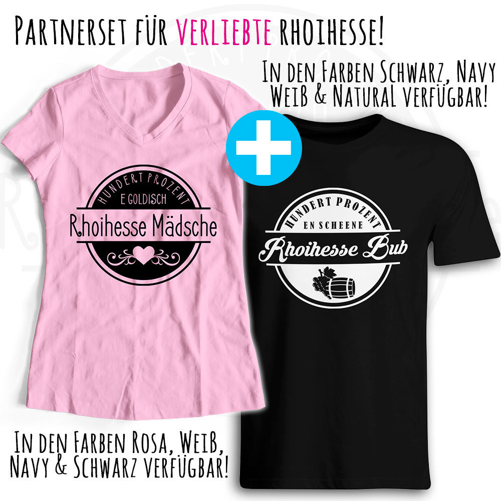 "T-Shirt Partnerset ""Rhoihesse Mädsche / Rhoihesse Bub"" M1-RHL 87882"