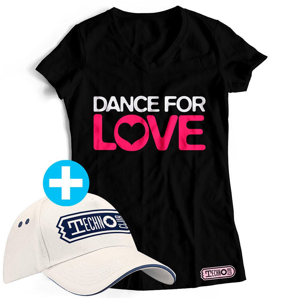 DANCE FOR LOVE Fanset T-Shirt (Women) + Basecap 21892