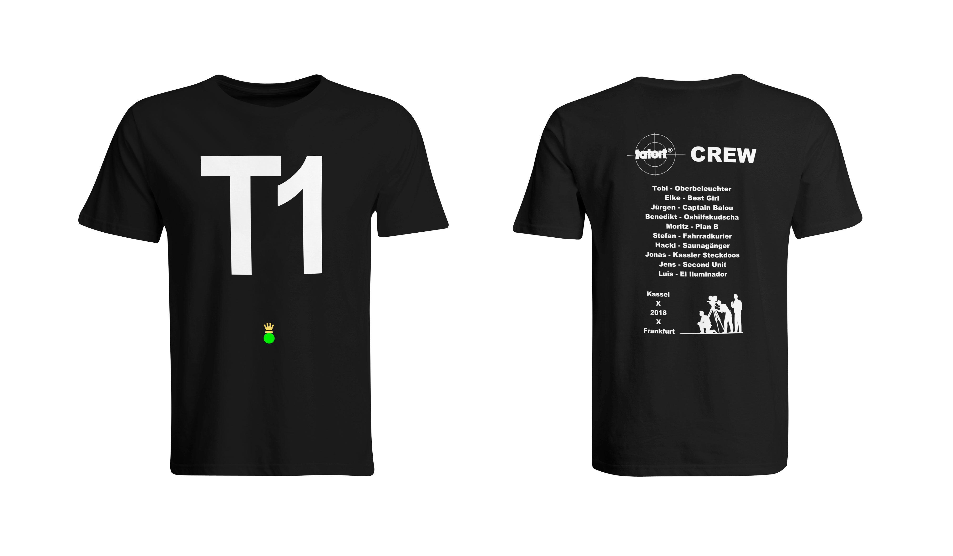 """Sonderanfertigung T-Shirt """"Filmcrew"""" (Doppelseitiger Druck) 85874"""