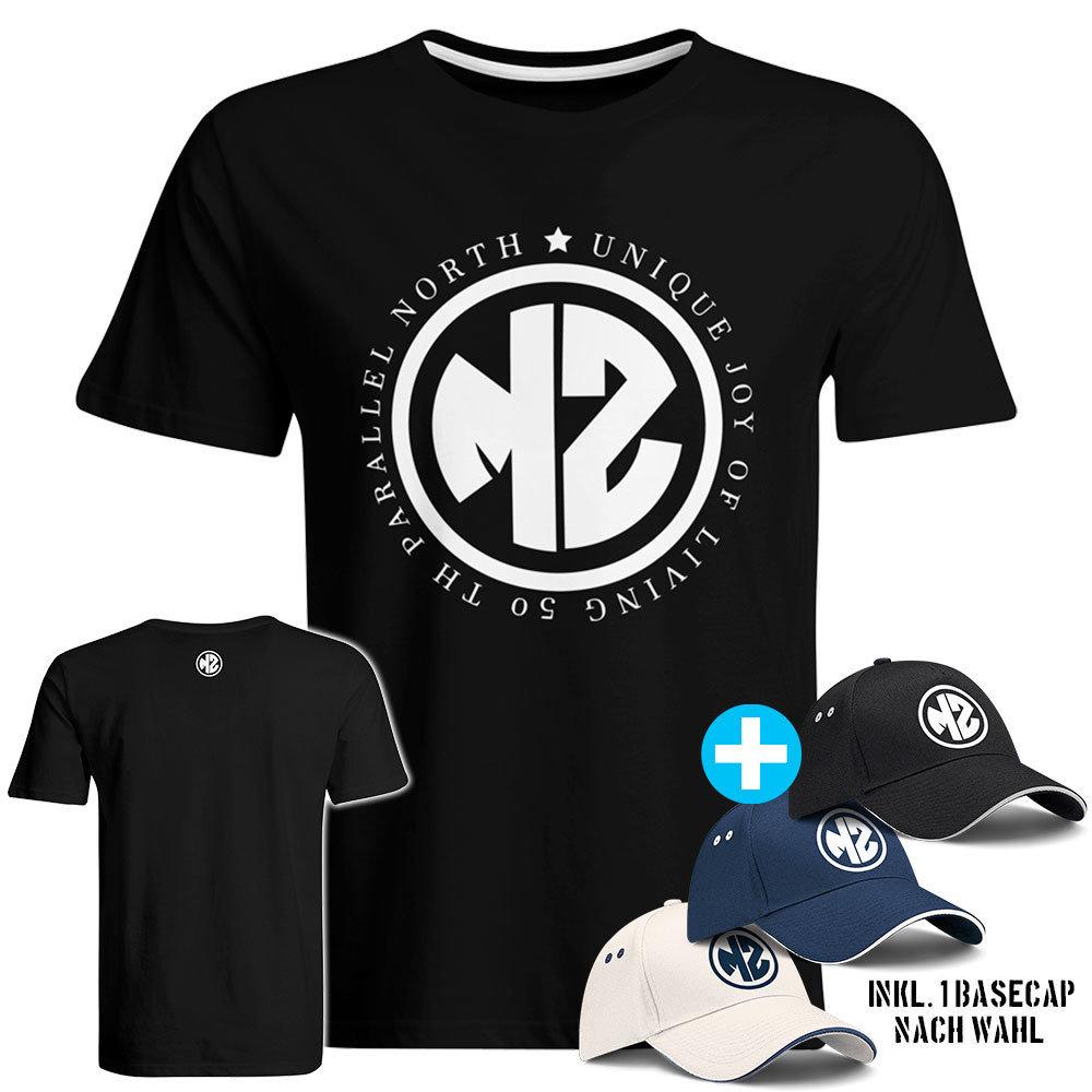 """T-Shirt """"MZ - Unique joy of living"""" inkl. Basecap (Herren) 89383"""