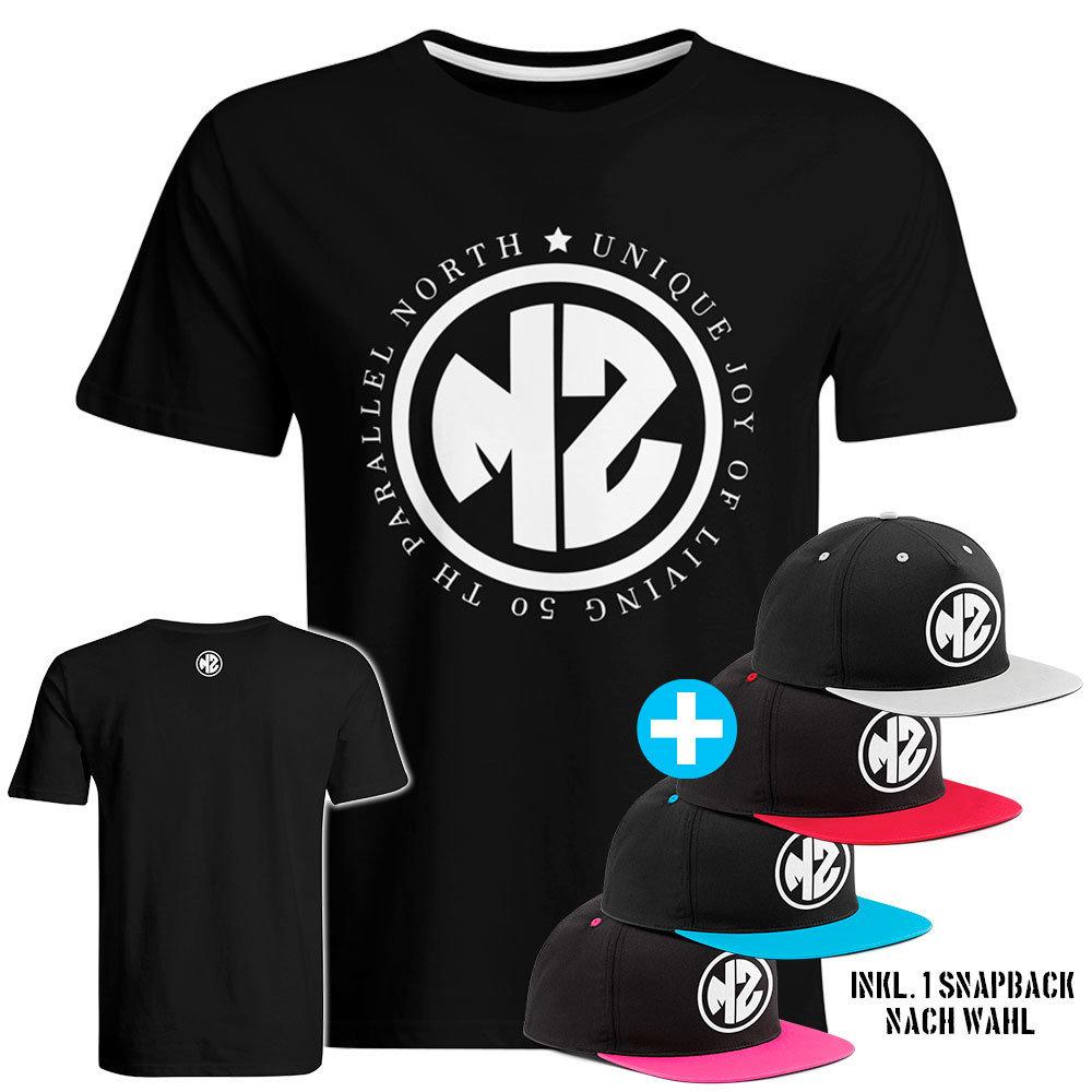 """T-Shirt """"MZ - Unique joy of living"""" inkl. Contrast Snapback (Herren) 91873"""