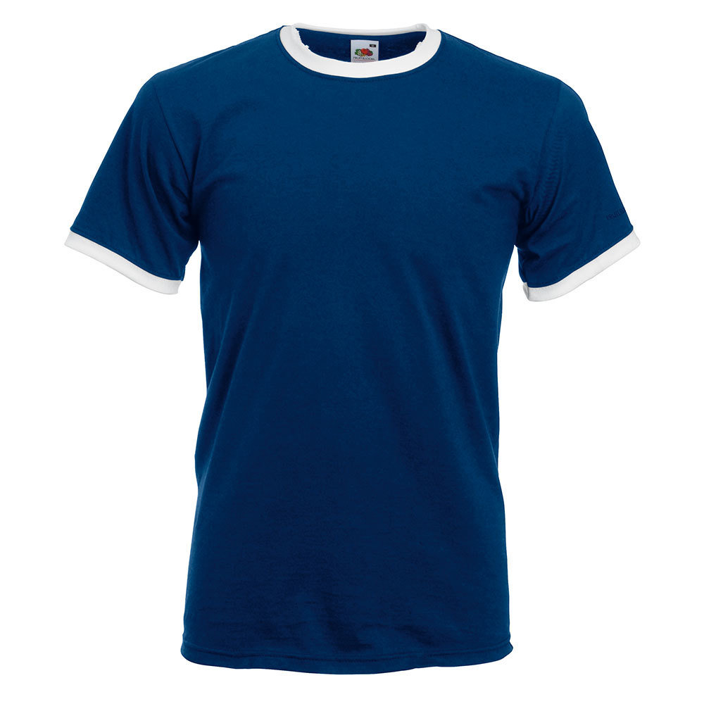Ringer T-Shirt Rundhals (Herren)