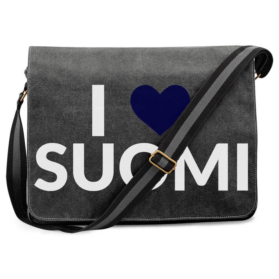 """""""I love Suomi"""" Premium Messengertasche im Vintagelook M1-FT 09112"""