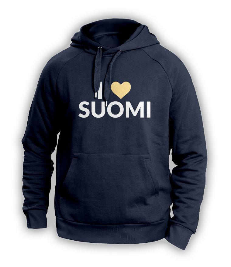 """I love Suomi"" Hoodie (Unisex) M1-FT 12194"