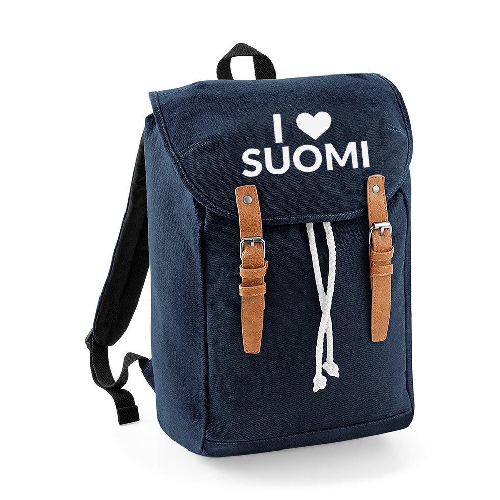 """I love Suomi"" Vintage Rucksack M1-FT 32731"