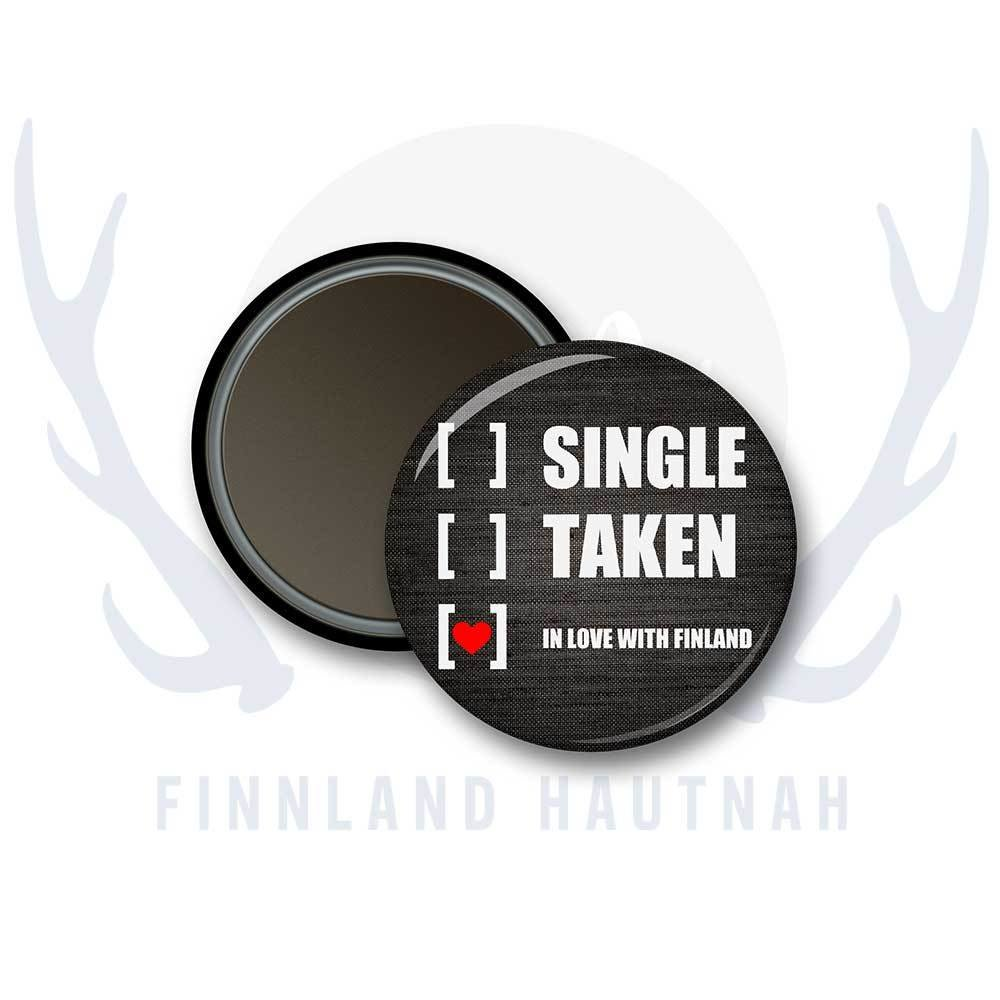 "Finnland Magnet ""Single, taken..."" 91894"