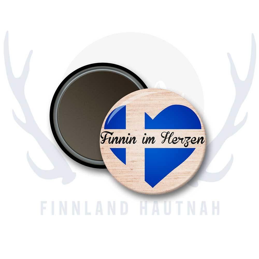 """Finnland Magnet """"Finnin im Herzen"""" 91900"""