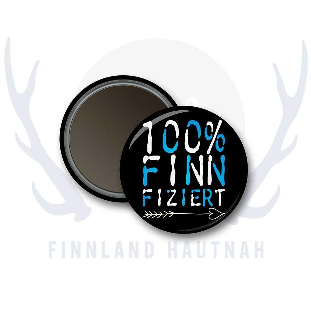 """Finnland Magnet """"100% finnfiziert"""" 91906"""