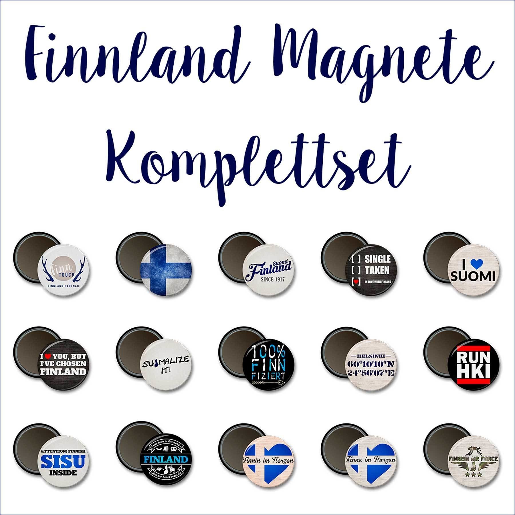 Finnland Magnete Komplettset (Inhalt 15 Stück) M1-FT 78377
