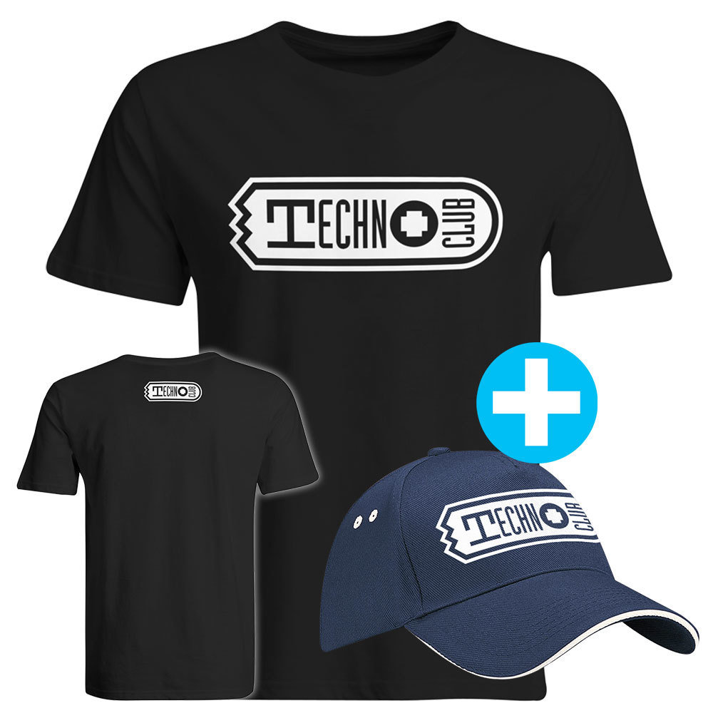 Technoclub T-Shirt + Basecap (Men) 91909