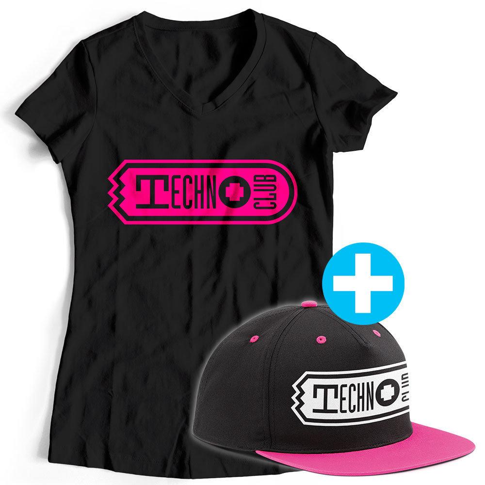 Technoclub T-Shirt + Snapback (Women) 91913