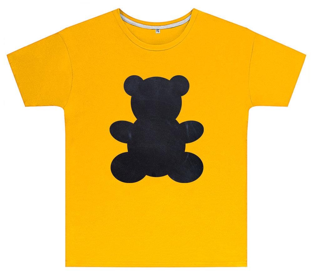 Kreideshirt mit Bär-Motiv inkl. 12er-Pack Kreide 91936