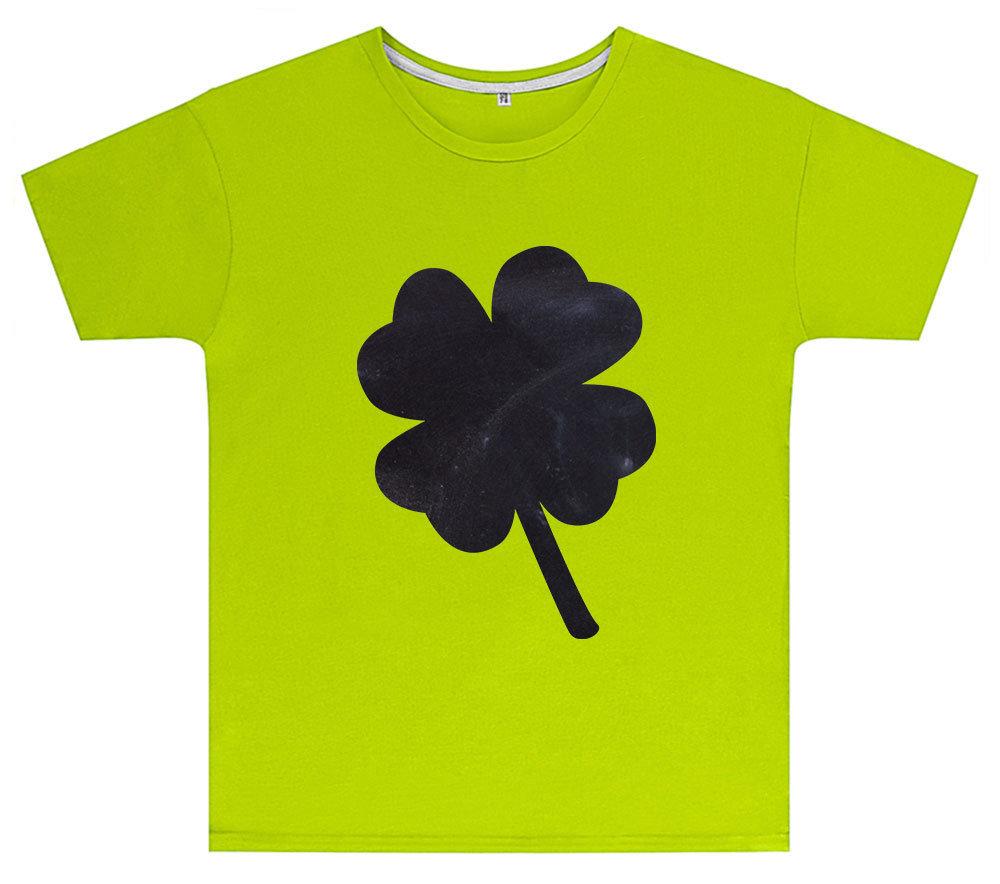 Kreideshirt mit Klee-Motiv inkl. 12er-Pack Kreide 91940
