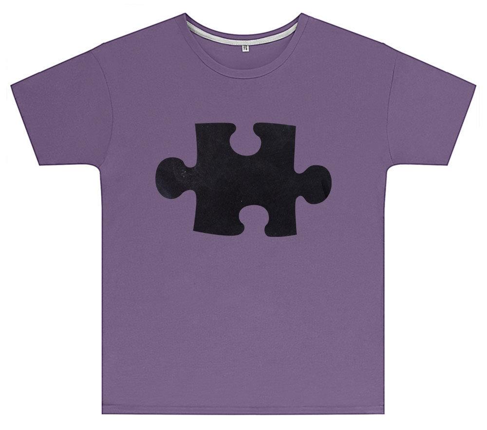 Kreideshirt mit Puzzle-Motiv inkl. 12er-Pack Kreide 91942