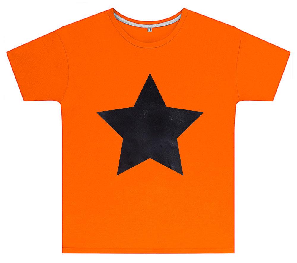 Kreideshirt mit Stern-Motiv inkl. 12er-Pack Kreide 91943