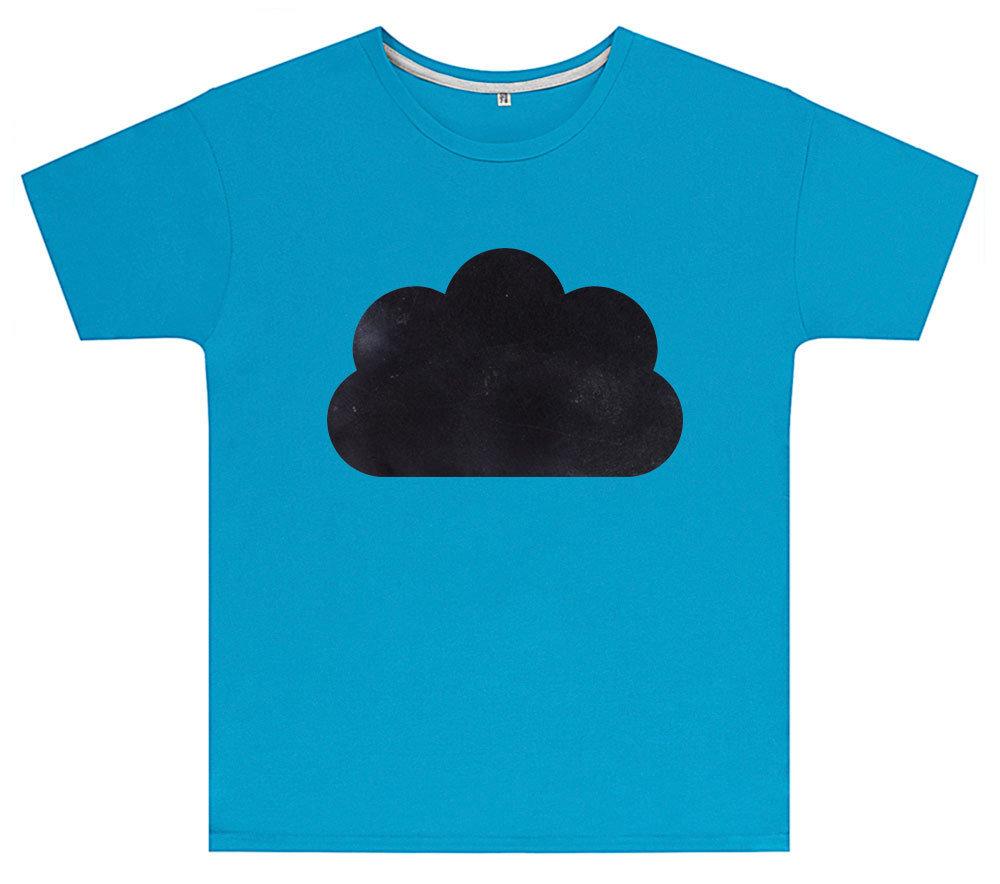Kreideshirt mit Wolken-Motiv inkl. 12er-Pack Kreide 91944