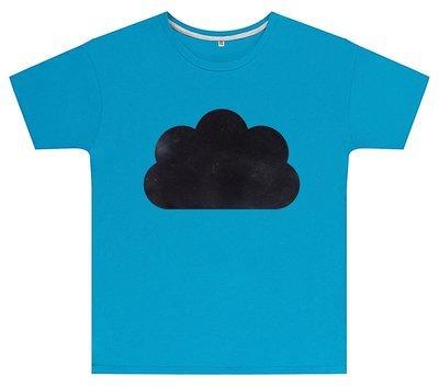 Kreideshirt mit Wolken-Motiv inkl. 12er-Pack Kreide