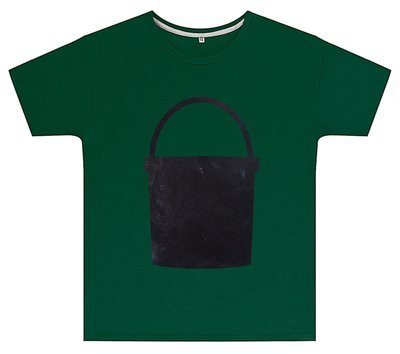 Kreideshirt mit Eimer-Motiv inkl. 12er-Pack Kreide