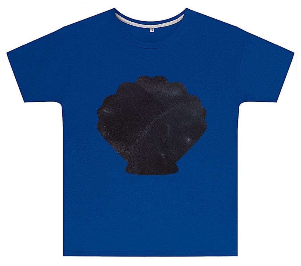 Kreideshirt mit Muschel-Motiv inkl. 12er-Pack Kreide 91941