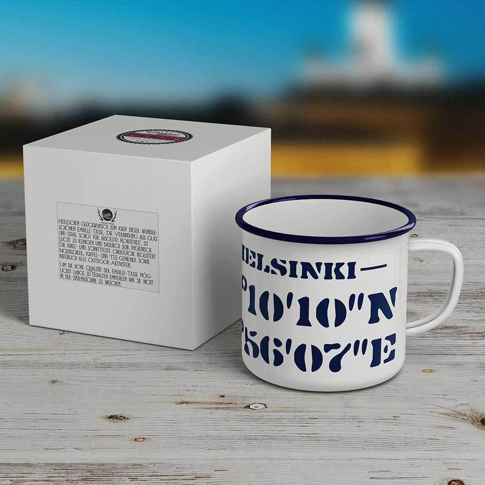 """""""Helsinki"""" Emaille-Tasse M1-FT 42290"""