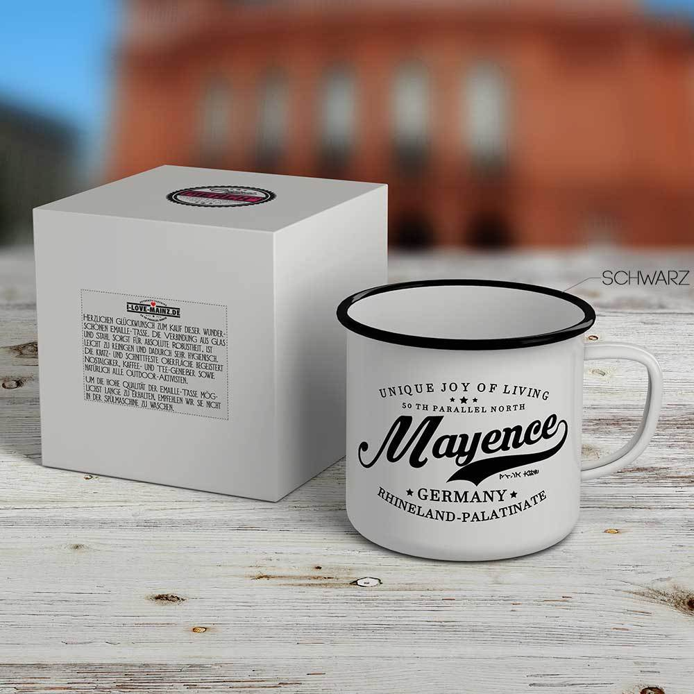 """Mayence - 50 th parallel North""  Emaille-Tasse 81000"