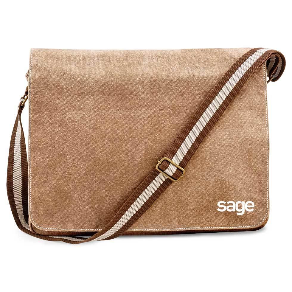 SAGE Premium Vintage Messengertasche M1-SAGE 91948