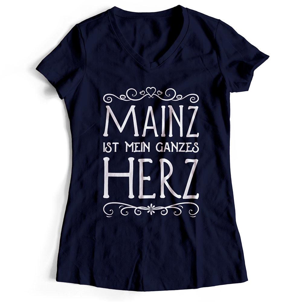 """Mainz T-Shirt """"Mainz ist mein ganzes Herz"""" (Damen)"""