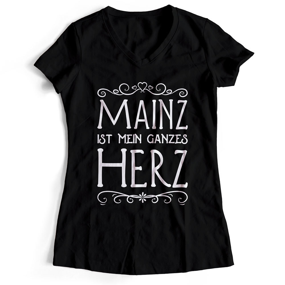 "Mainz T-Shirt ""Mainz ist mein ganzes Herz"" (Damen) M1-RHL 20011"