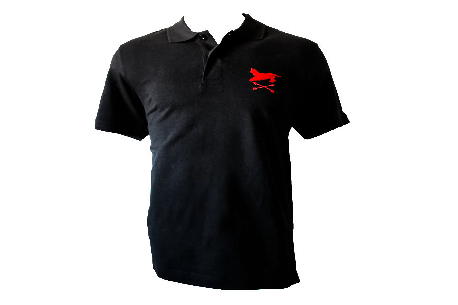 Polo negro bordado Alano&Flechas