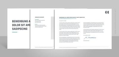 Bewerbungsvorlage Novus Quer (für Word, OpenOffice und Google Docs)