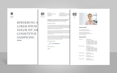 Bewerbungsvorlage Onorio (für Word, OpenOffice und Google Docs)