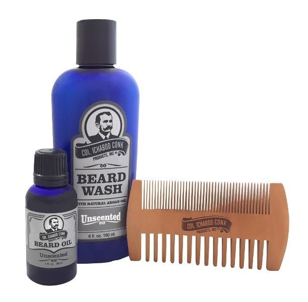 COL CONK UNSCENTED BEARD KIT - with 2 sided comb #4054