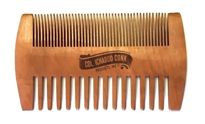 COL CONK WOOD BEARD COMB-FINE & COARSE TOOTH #305