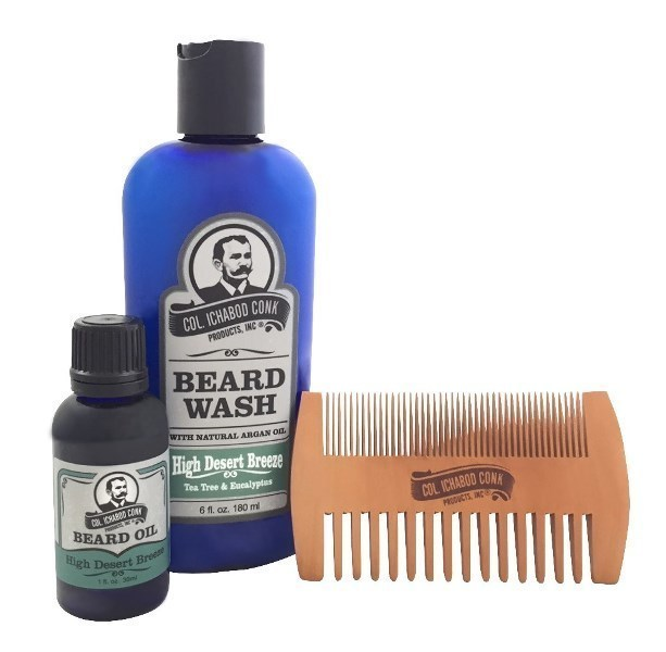 HIGH DESERT BREEZE BEARD KIT - with 2 sided comb #4053
