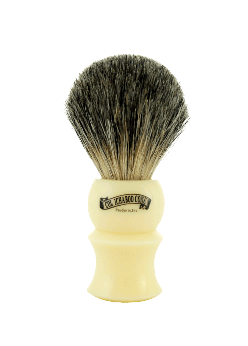 MIXED BADGER BRUSH - FAUX IVORY #902