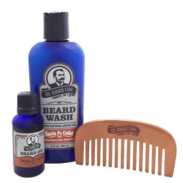 Santa Fe Cedar & Sm. Comb Beard Kit #4041