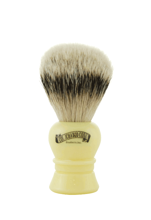 SILVER TIP BADGER FAUX IVORY BRUSH #910