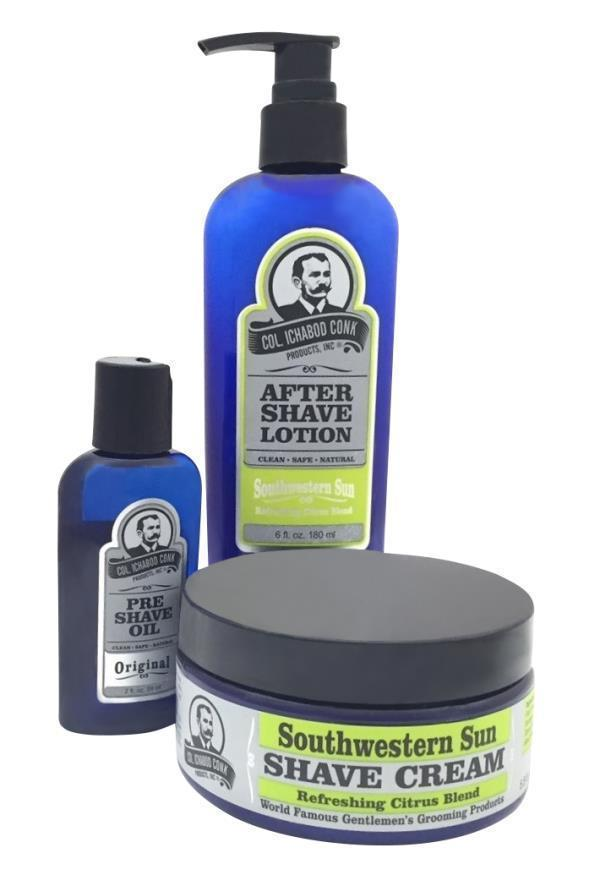 SOUTHWESTERN SUN SHAVE KIT with Cream #4032
