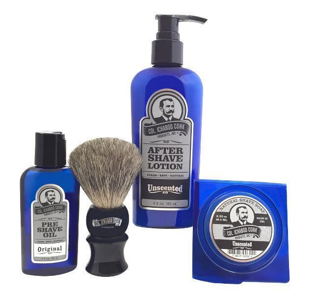UNSCENTED SHAVE KIT with Soap #4024