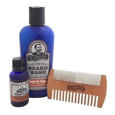 SANTA FE CEDAR BEARD KIT - with 2 sided comb #4051