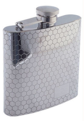 HONEYCOMB PATTERN 6 OZ. FLASK  #1007